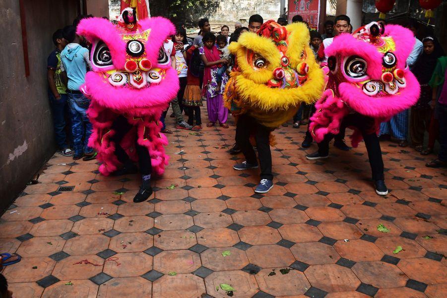 Fête du Nouvel An Chinois à Inde.