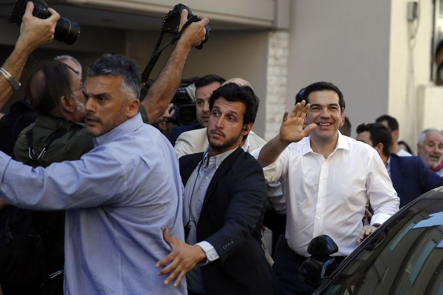 Le Premier ministre grec Alexis Tsipras a voté au référendum dimanche