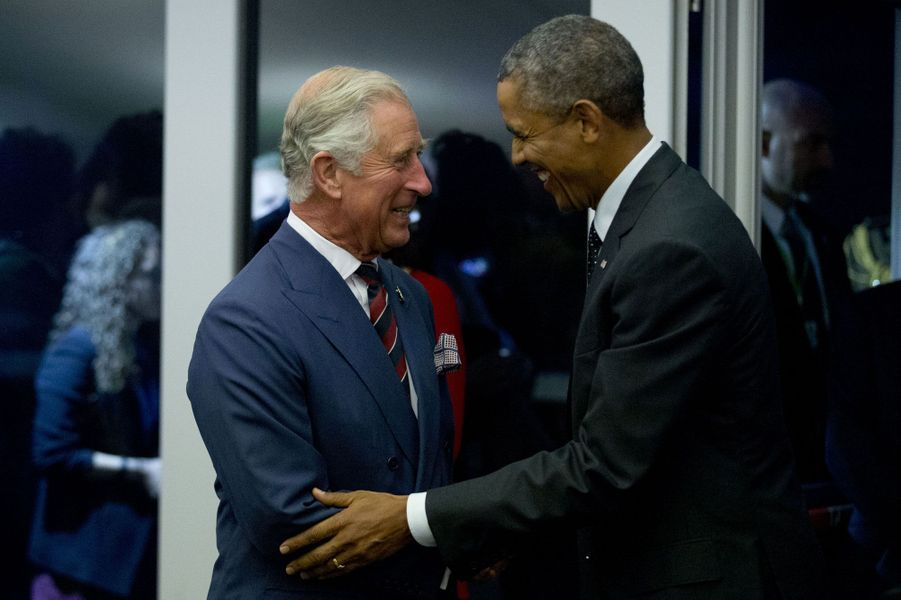 Le prince Charles et Barack Obama