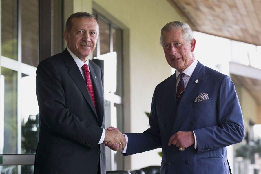 Le prince Charles et le président turc Recep Tayyip Erdogan