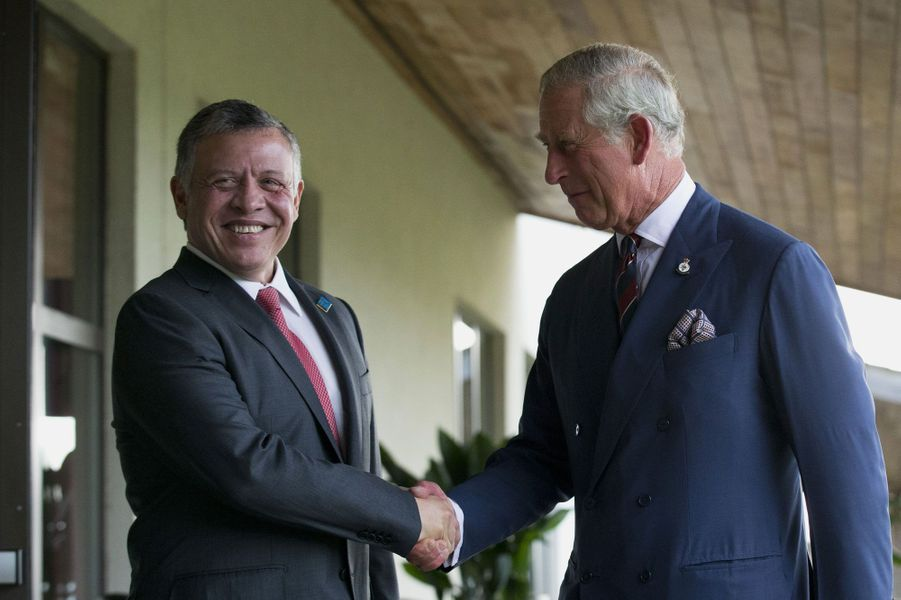 Le prince Charles et le roi jordanien Abdullah