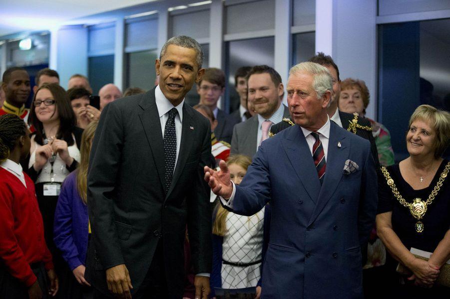 Le Prince Charles accueille le monde, Obama en tête