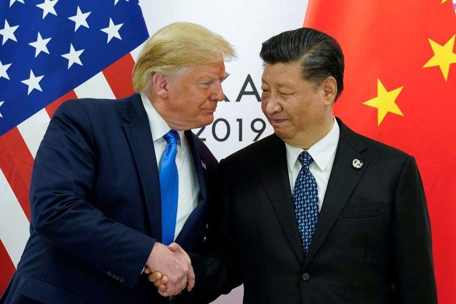 Donald Trump et le président chinois Xi Jinping.