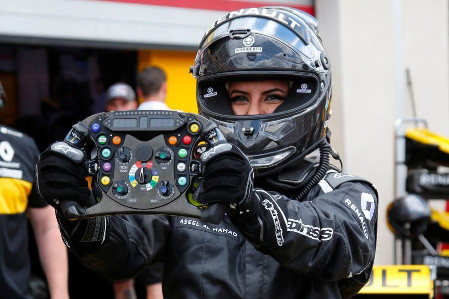 La pilote saoudienne Aseel Al-Hamad au Grand Prix de France de Formule 1, le 24 juin 2018.