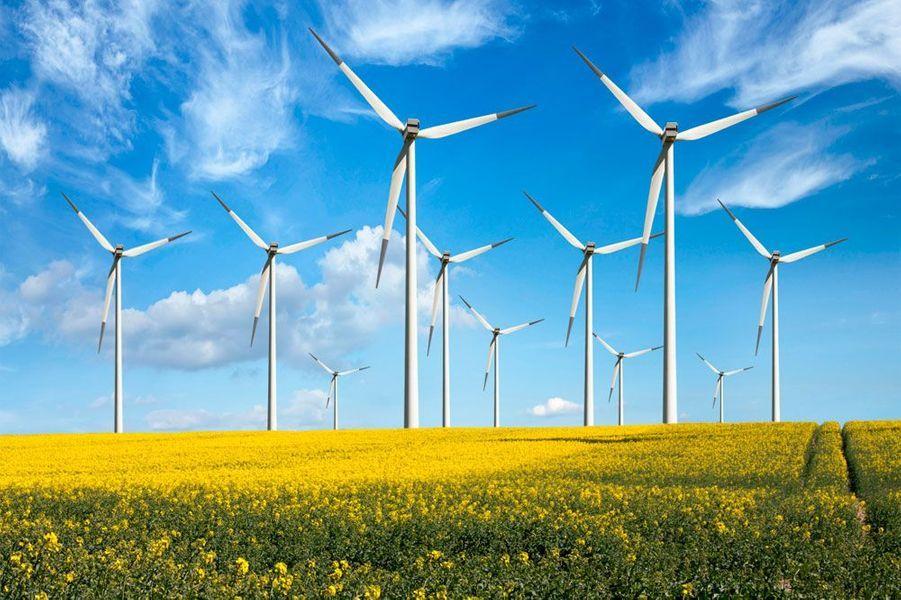 Les éoliennes représentent l'énergie et la durabilité moderne.