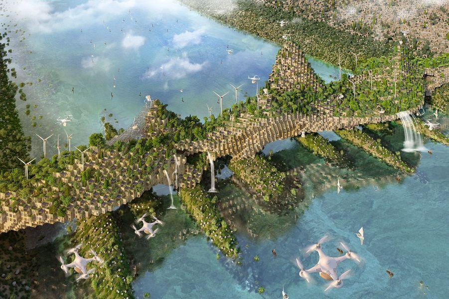 Les ponts permettraient d'accueillir 55 000 logements au total.