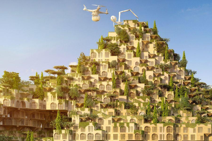 Vue des fermes urbaines.