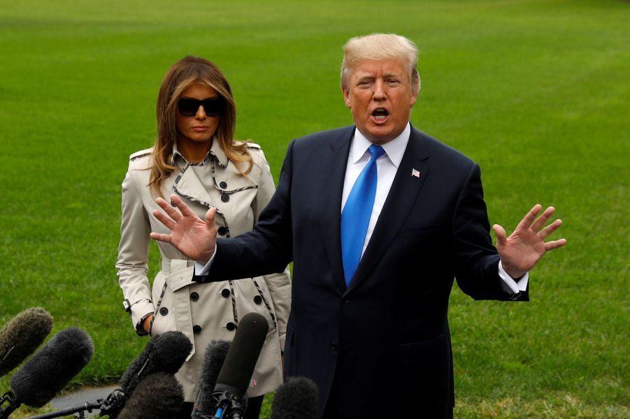 Donald et Melania Trump à la Maison Blanche, le 13 octobre 2017.