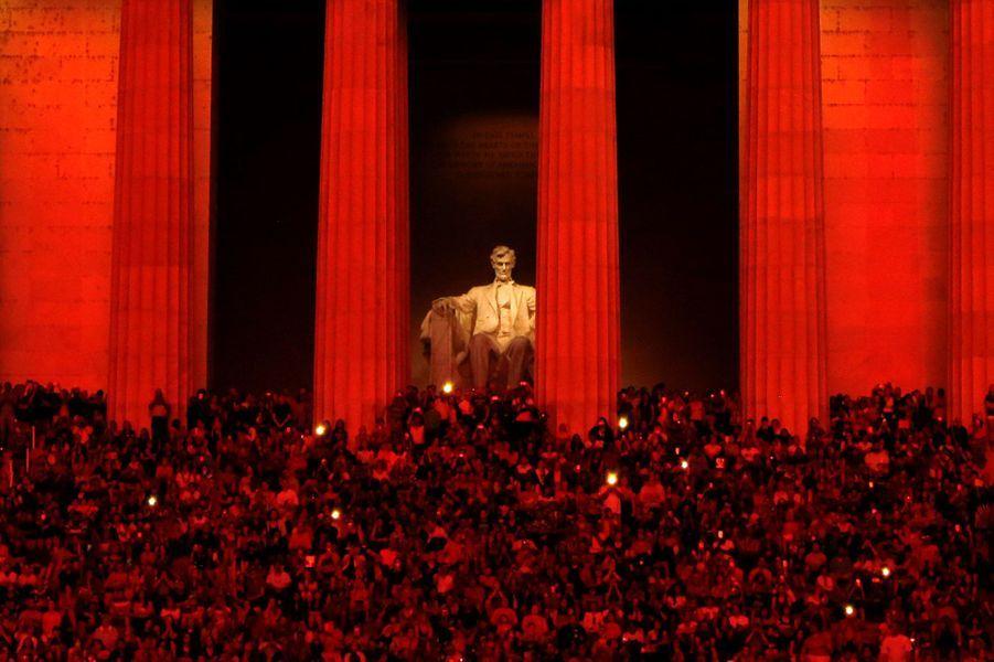 Le Lincoln Memorial pendant la fête nationale