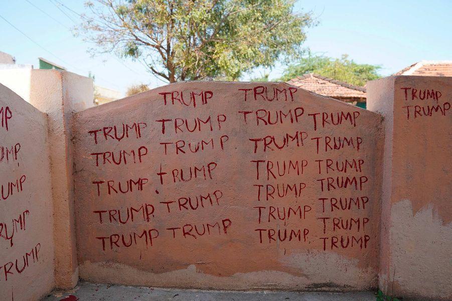 Préparatifs avant la visite de Donald Trump à Ahmedabad, en Inde.