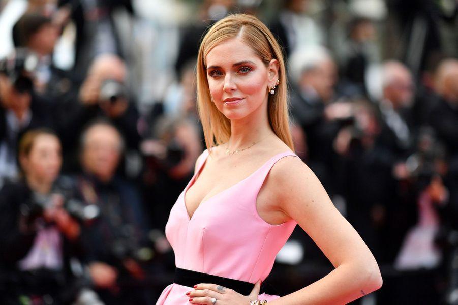 L'influenceuse italienne Chiara Ferragni au festival de Cannes, le 13 mai 2018.