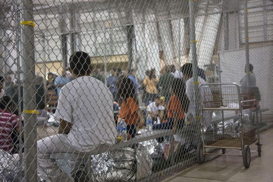 Dans le centre de McAllen, au Texas, où sont détenus les migrants arrêtés à la frontière, en juin 2018.