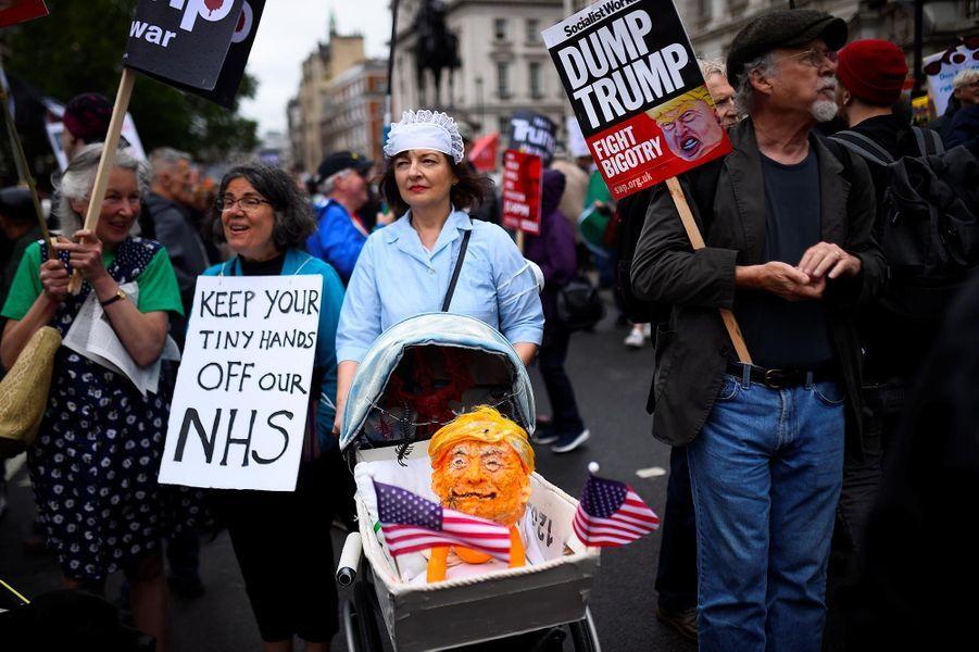 Manifestation anti-Donald Trump à Londres, le 4 juin 2019.