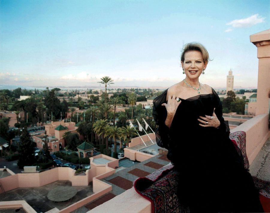Claudia Cardinale sur le toit de la Mamounia, en 2004.