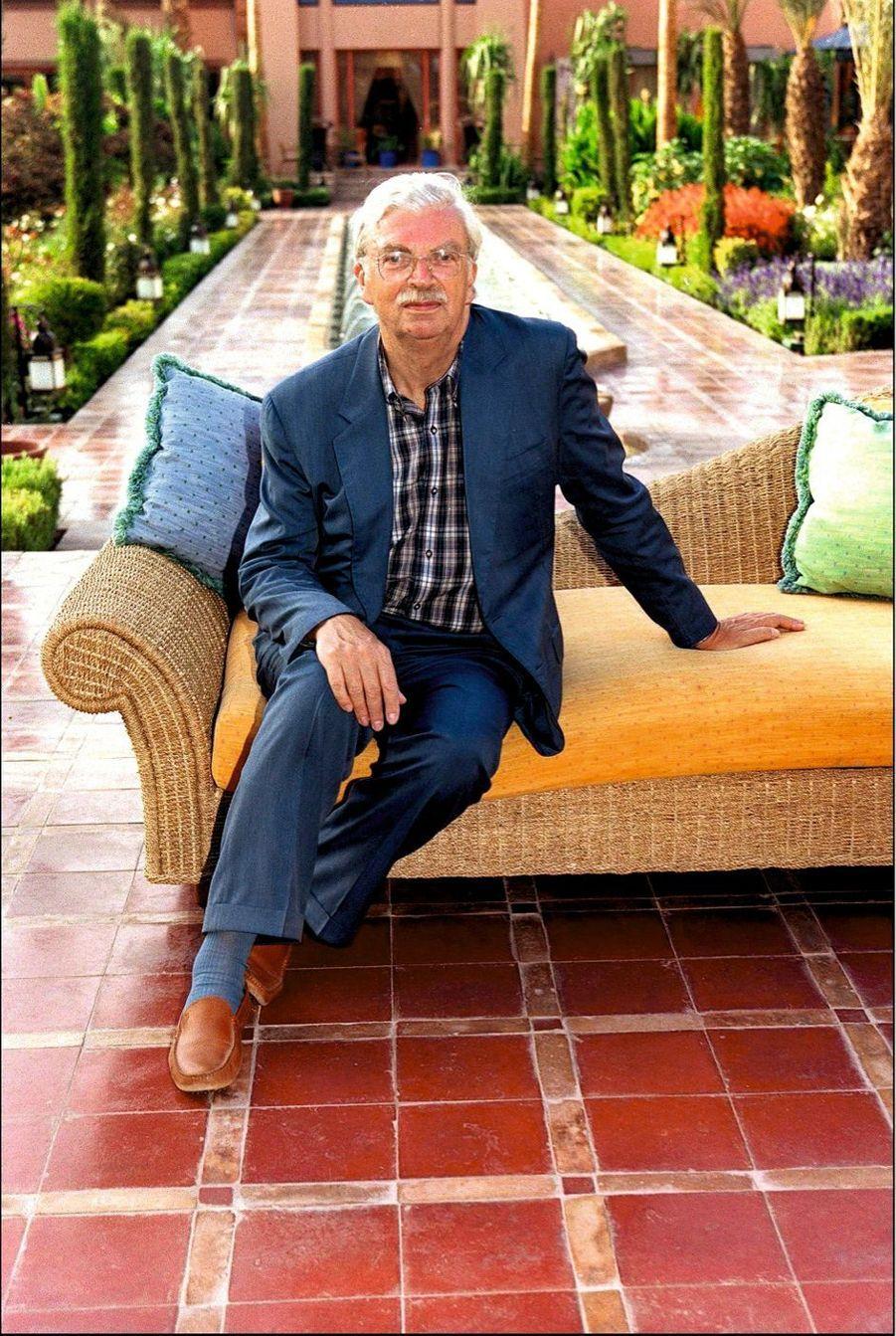 Daniel Toscan du Plantier, le président du Festival international du film de Marrakech, en 2001.