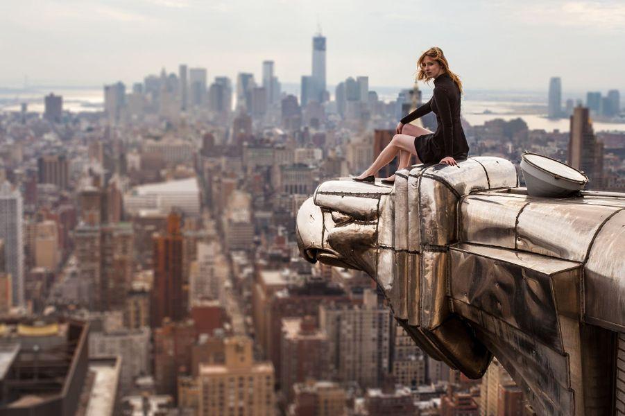 Au sommet du Chrysler Building, à New York