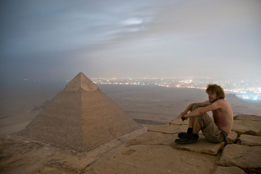 La pyramide de Gizeh, en Egypte