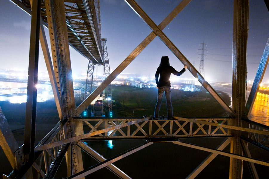 The Transporter Bridge de Newport, Pays-de-Galles