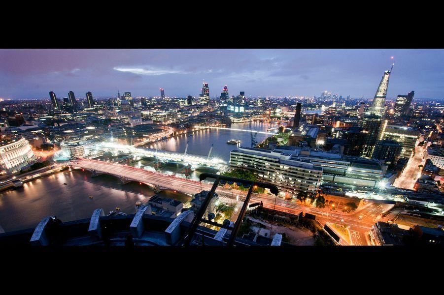 Vue aérienne sur Londres