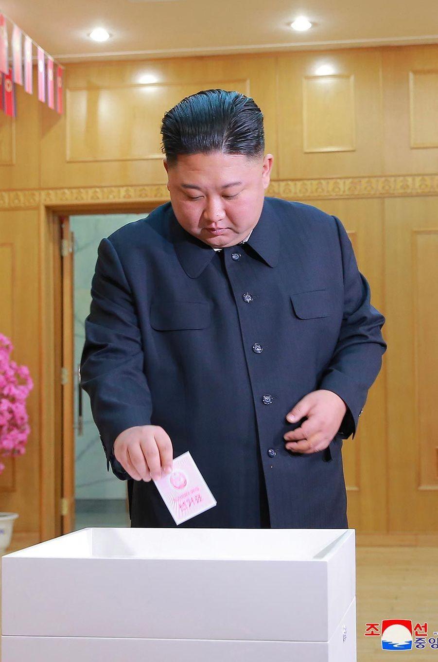 Kim Jong-un a lui aussi voté, le 10 mars 2019.