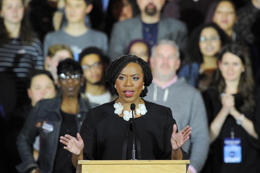 Ayanna Pressley a été élue dans le7ème district congressionnel du Massachusetts.
