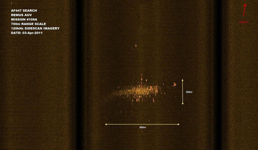 Image SONAR du site de l'accident