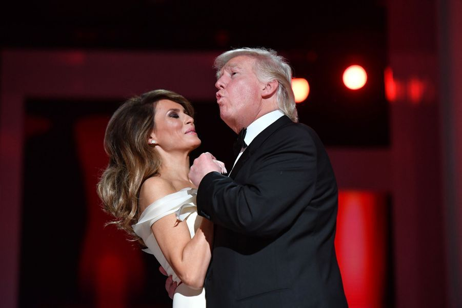 Melania et Donald Trump le soir de l'investiture, le 20 janvier 2017.