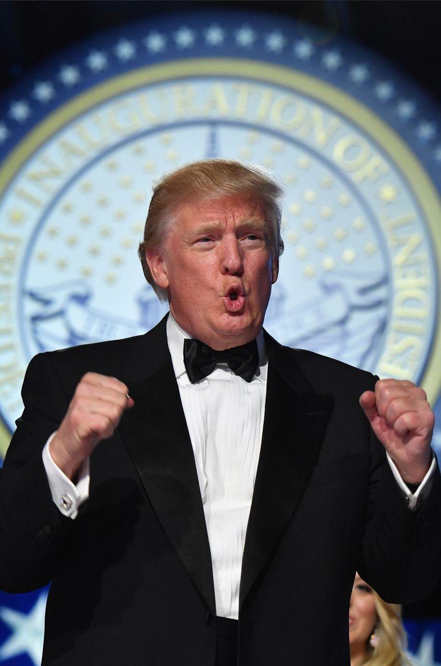 Donald Trump le soir de l'investiture, le 20 janvier 2017.