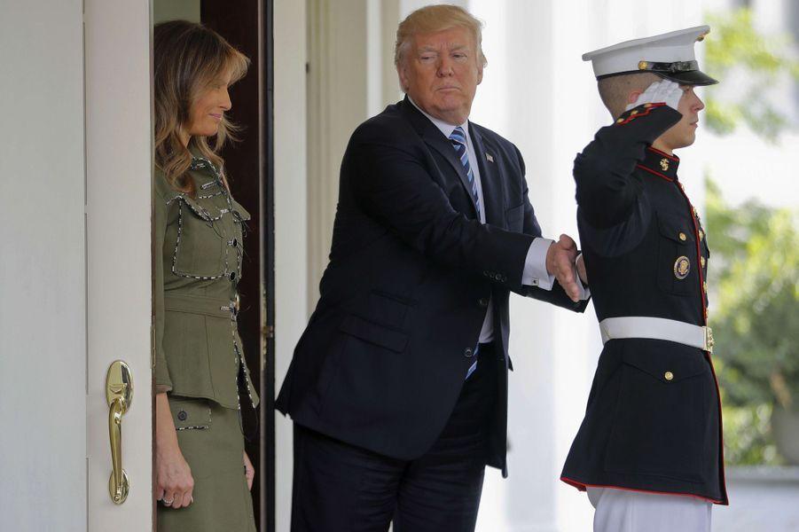Donald Trump à la Maison Blanche, le 27 avril 2017.