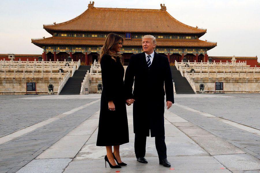Melania et Donald Trump à la Cité Interdite, le 8 novembre 2017.