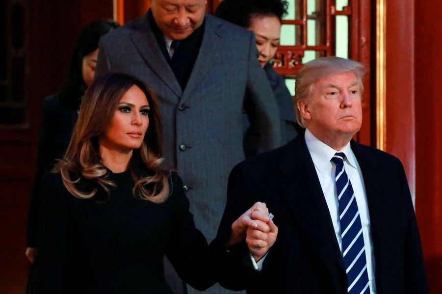 Melania et Donald Trump à un opéra de la Cité Interdite, le 8 novembre 2017.