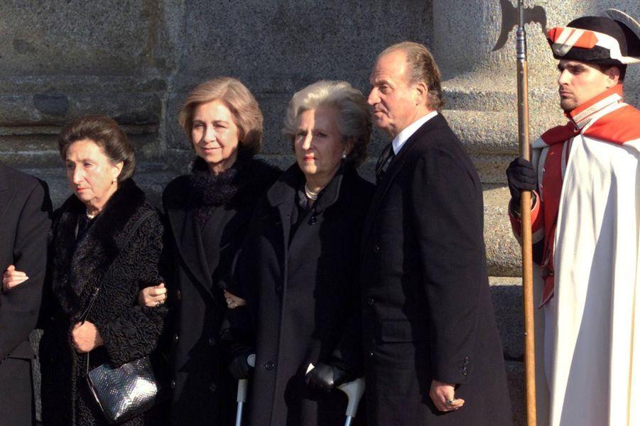 La soeur de l'ancien roi d'Espagne Pilar de Bourbon
