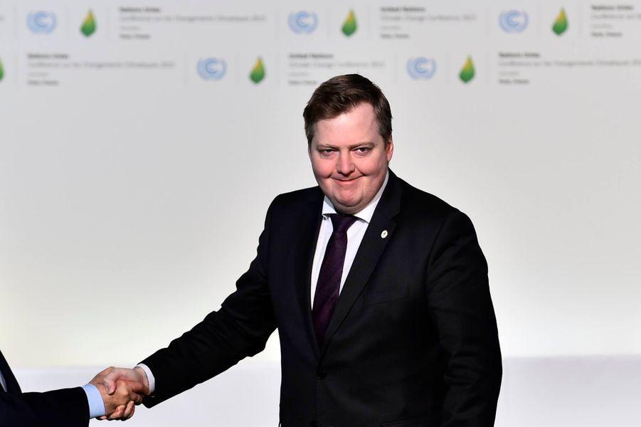 Le Premier ministre islandais Sigmundur David Gunnlaugsson