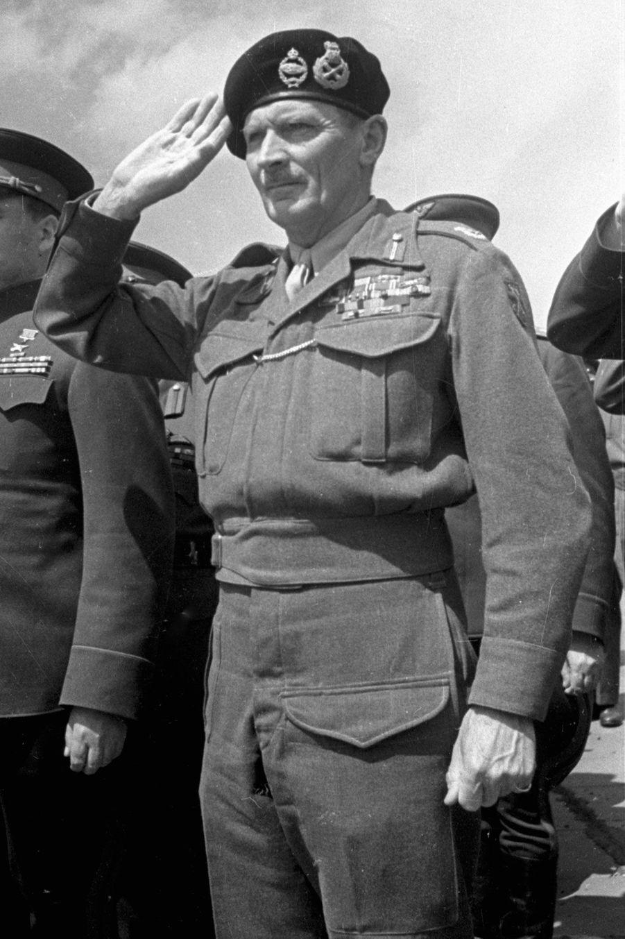 Bernard Montgomery à Berlin en 1945.