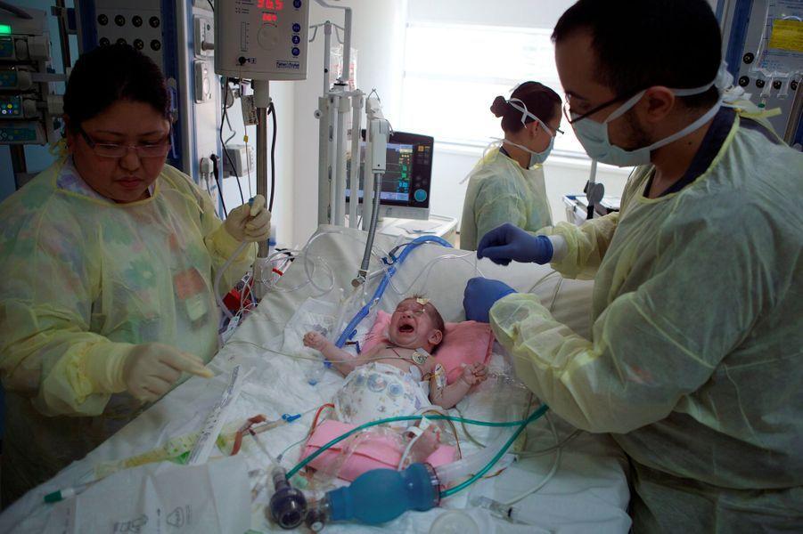 Haneen, après l'opération, le 9 janvier 2018