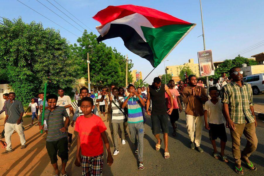 Manifestation à Khartoum, au Soudan, le 5 juillet 2019.