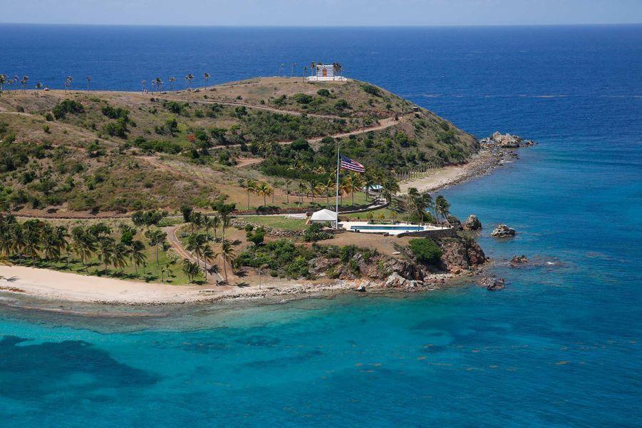 Little St James, l'île privée de Jeffrey Epstein dans les Îles Vierges britanniques.