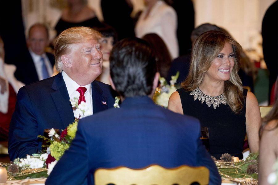 Donald et Melania Trump le 24 décembre en Floride.