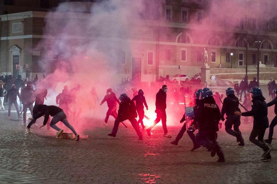 Rome, dans la nuit du vendredi 23 au samedi 24 octobre.