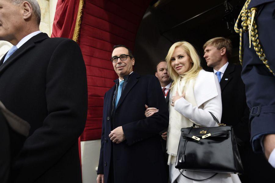 Steven Mnuchin et Louise Linton à l'investiture de Donald Trump, le 20 janvier 2017.