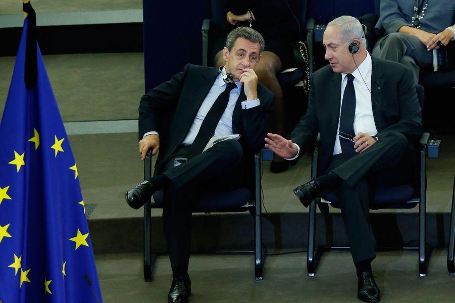 Nicolas Sarkozy et Benjamin Netanyahu.