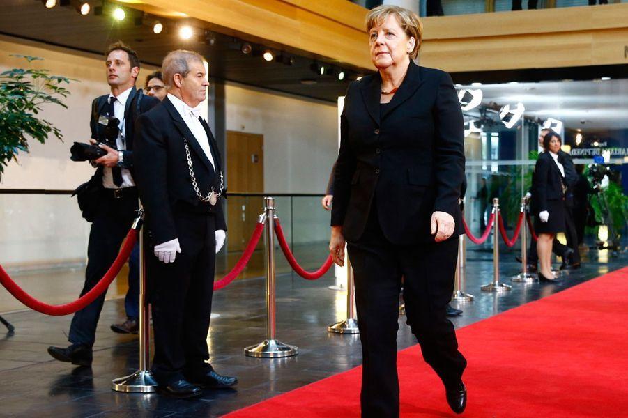 Arrivée d'Angela Merkel.