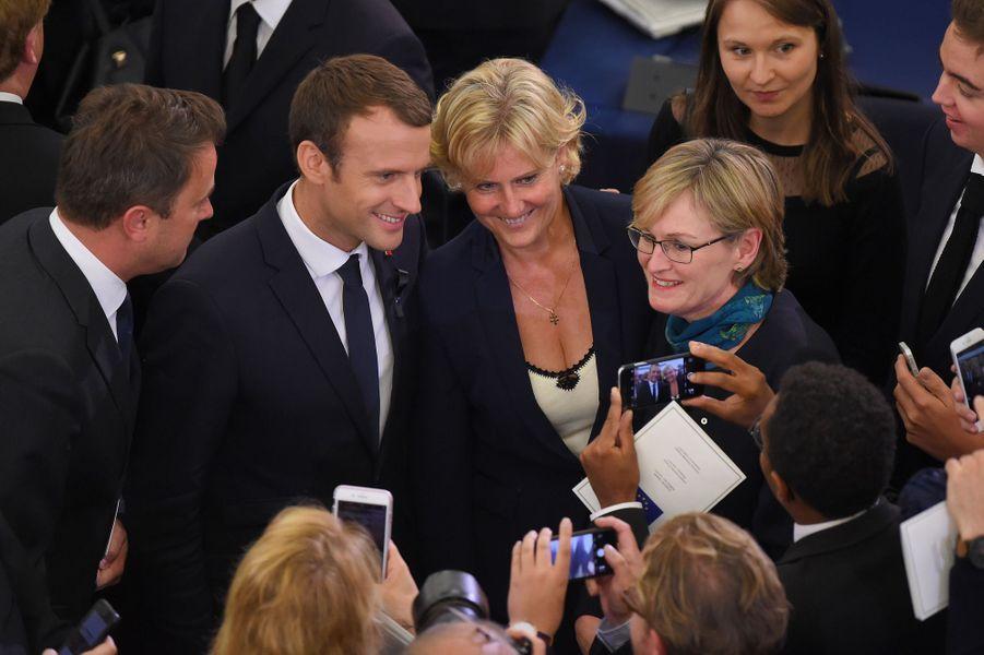 Emmanuel Macron et Nadine Morano.