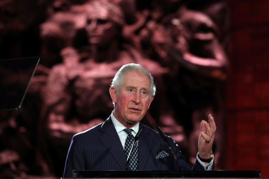 Discours du Prince Charles àYadVashem, le mémorial de la Shoah à Jérusalem,pour marquer le 75e anniversaire de la libération du camp nazi d'Auschwitz.