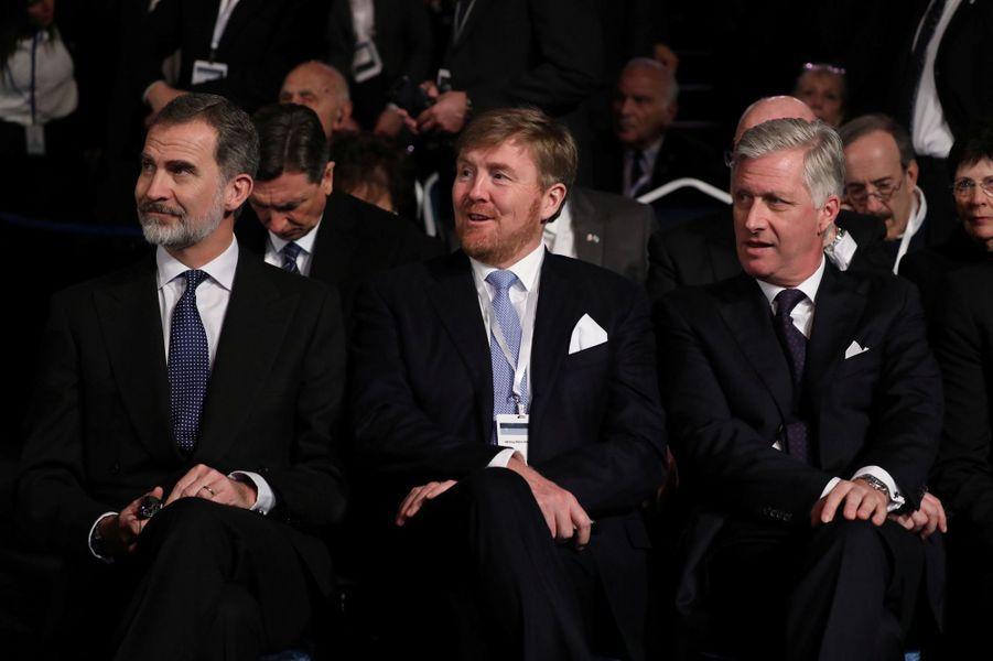 FelipeVId'Espagne,Willem-Alexanderdes Pays-Bas etPhilippe de Belgique.