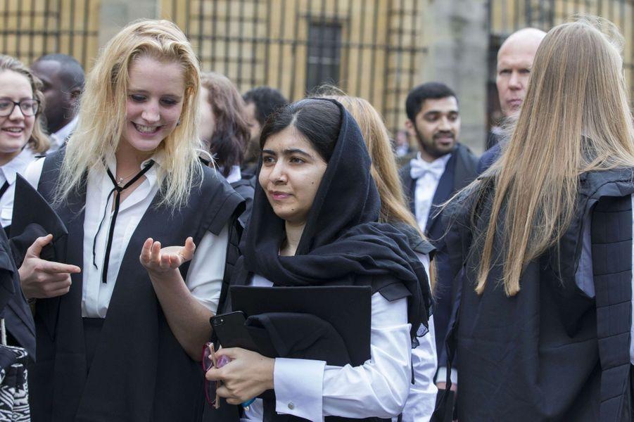 Malala à Oxford, le 15 octobre 2017.
