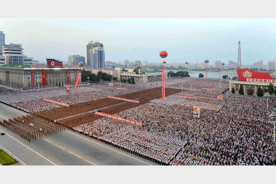 Célébrations à Pyongyang, le 6 juillet 2017.