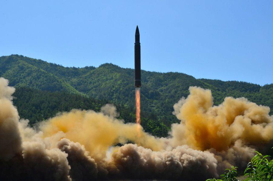 Lors du tir du missile intercontinental, le 5 juillet 2017.