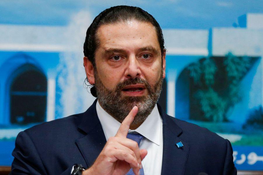 Le Premier ministre libanais Saad Hariri, lundi.