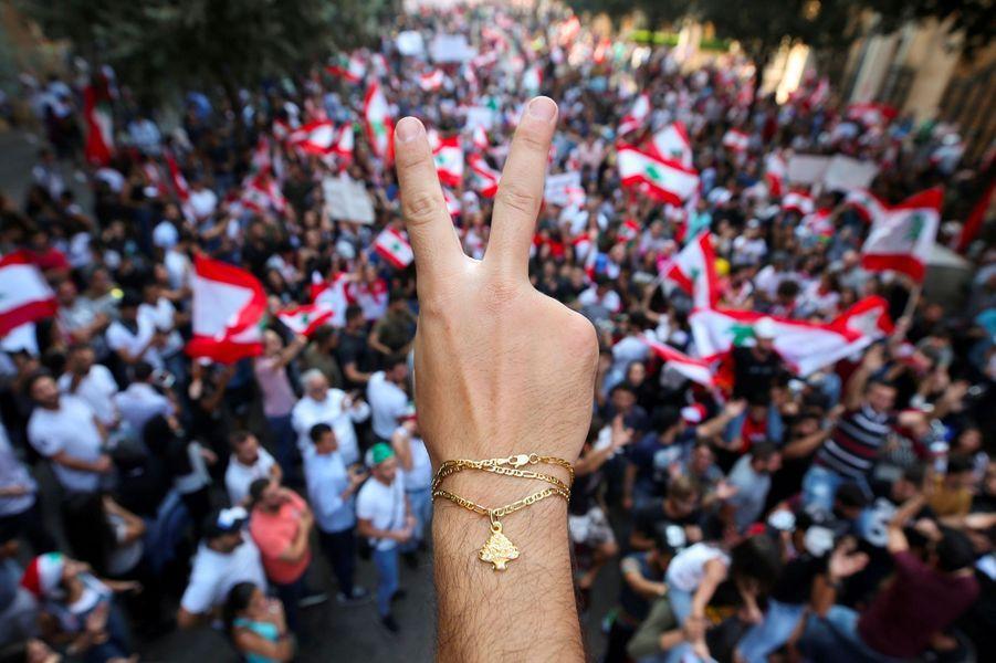 Manifestation à Beyrouth, au Liban, lundi.